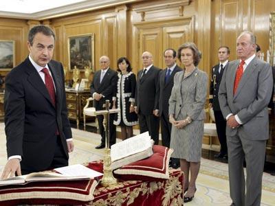 Jura a la Constitución y al Rey del presidente Zapatero