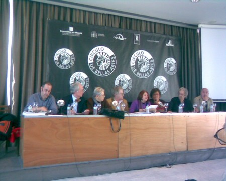 Lectura y presentación del manifiesto en el Circulo de Bellas Artes de Madrid