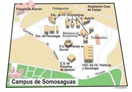 Plano del Campus de Somosaguas