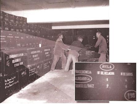 Caja donde se encunetran los restos de Valerico, padre de Fausto Canales