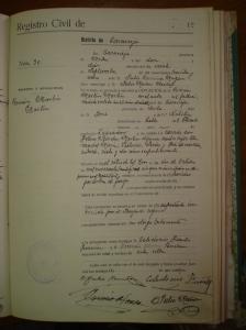 Certificado de defunción de Román Martín Martín