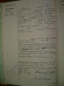Certificado de defunción de Victoriano Jiménez Martín.