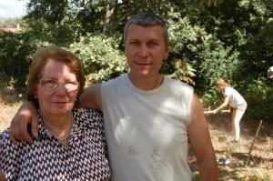 Maria Sol Gonzalez Timon y su hijo Carlos (hija y nieto de Anastasio)