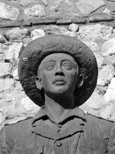 Estatua del dictador Francisco Franco, en Melilla.