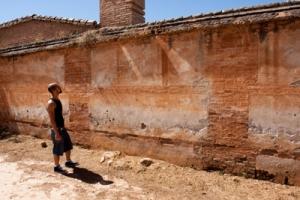La tapia del cementerio de Granada donde el PP se opone a que luzca una placa dedicada a los fusilados. - A. ZURITA