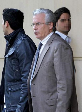 El juez Baltasar Garzón, en la Audiencia Nacional.- GORKA LEJARCEGI