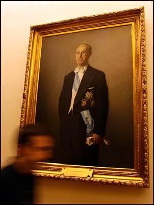 El cuadro de Antonio Iturmendi en los pasillos del Congreso. - MARTA JARA