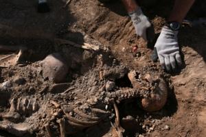 Excavación de la Asociación para la Recuperación de la Memoria Histórica en Milagros (Burgos). - REYES SEDANOsedano