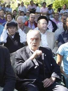 Fraga durante un acto celebrado en el castillo de Sotomayor (Vigo). - EFE