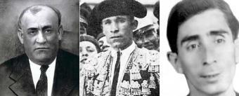 Dióscoro Galindo González - profesor, activista  republicano,  Francisco Galadí Melgar - banderillero, militante anarquista, sindicalista y combatente republicano,  Joaquín Arcollas Cabezas - banderillero, militante anarquista, sindicalista y combatiente republicano