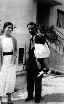 Matilde con Carmen, su hija y con su marido Francisco López Ganivet.