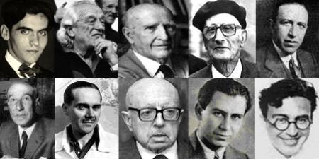 """Algunos de los miembros de la """"Generación del 27"""""""