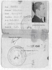 Documento de Identificación de Cristino García