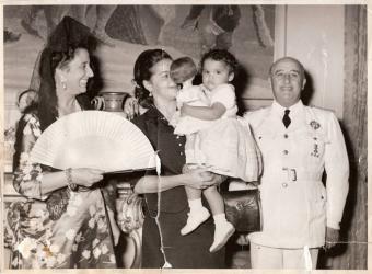 Foto del Dictador con su familia