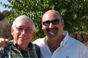 Un momento especial el poder darle un abrazo al amigo Fausto Canales...