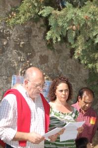 Paco Tena nos regaló un sensible y precioso poema dedicado a los homenajeados