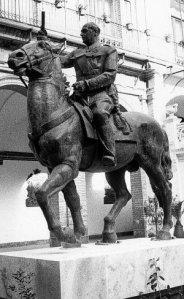 ESTATUA. La figura de Franco en Capitanía. / JOSÉ PENALBA