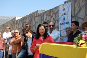 Inma Chacón durante su lectura