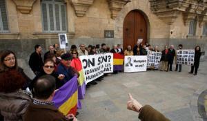 Concentración organizada por los compañeros de Memòria Històrica de Mallorca