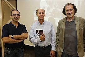 Vicent Sampedro, Emilio García y Alfons CerveraVicent Sampedro, Emilio García y Alfons Cervera.  m. molines