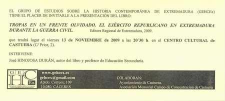 Invit. Castuera 13-XI-09
