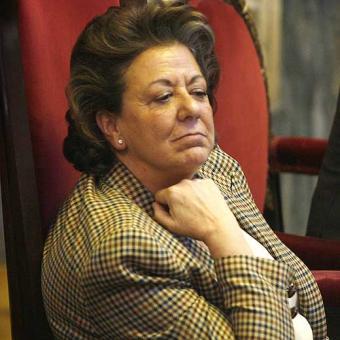 Rita Barbera alcaldesa del PP en  Valencia...