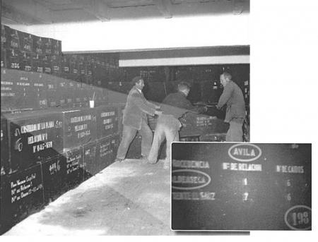Foto de 1959 (aprox) de EFE: En ella se vé claramente la caja 198.